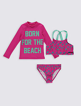 3 Piece Bikini Outfit with Lycra® Xtra Life™ (3-14 Years)