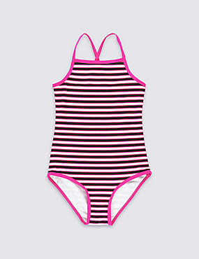 Striped Swimsuit (3-14 Years)