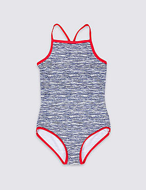 Wave Print Swimsuit with Lycra® Xtra Life™ (3-14 Years)