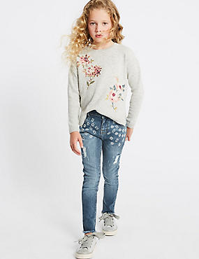 Cotton Jeans with Stretch (3-16 Years), DENIM, catlanding