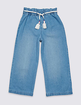 Denim Paper Bag Waist Culottes (3-16 Years)
