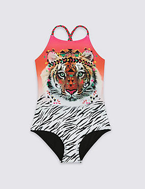 Animal Print Swimsuit with Lycra® Xtra Life™ (3-14 Years)