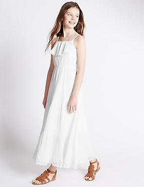 Pure Cotton Maxi Dress (5-14 Years)