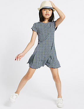 Geometric Print Jersey Dress (3-14 Years)