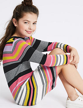 Knitted Pure Cotton Dress (3-16 Years)