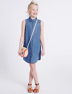Denim Shirt Dress (3-14 Years)