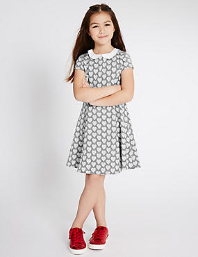 Peter Pan Collar Ponte Dress (3-14 Years)