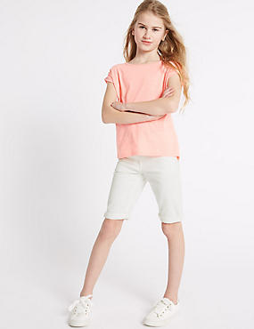 Denim Shorts with Adjustable Waist (3-14 Years)