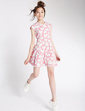 Cotton Rich Heart Print Dress (5-14 Years)