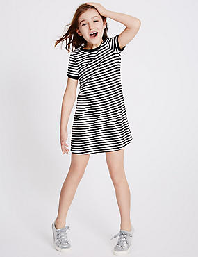 Striped Ponte Dress (3-14 Years)