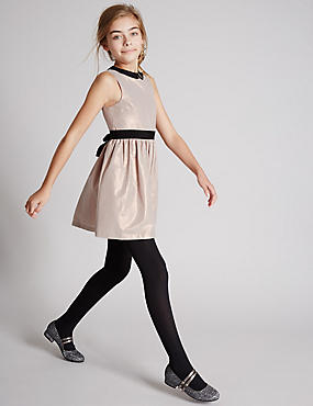 Collared Neck Sleeveless Dress (5-14 Years)
