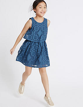 Lace 2-in-1 A Line Dress (3-14 Years)