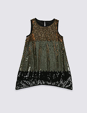 Sleeveless Sequin Dress (5-14 Years)