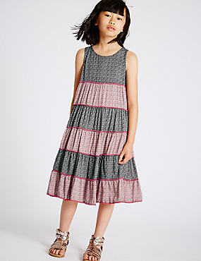All Over Print Tassel Dress (3-14 Years)