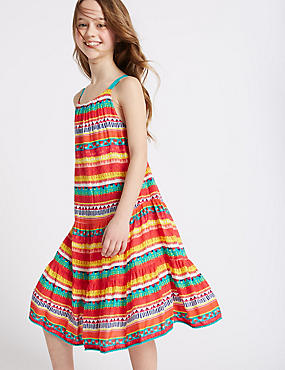 Aztec Print Dress (3-14 Years)