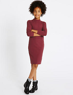 Long Sleeve Jersey Dress (3-14 Years)