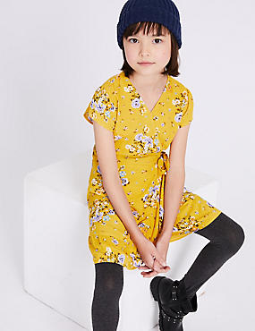 Wrap Dress (3-16 Years), BUTTERCUP, catlanding