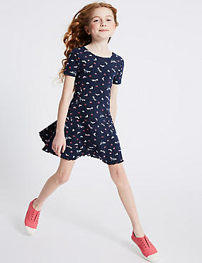 Cotton Dragonfly Print Dress (3-16 Years)
