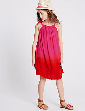 Dip Dye Pom-Pom Dress (3-14 Years)