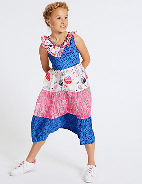 Mix Match Dress (3-16 Years), BLUE MIX, catlanding