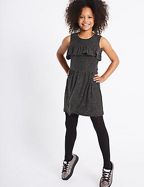 Frill Cold Shoulder Dress (3-14 Years)