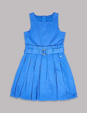 Pure Cotton Dress with Belt (3-16 Years)