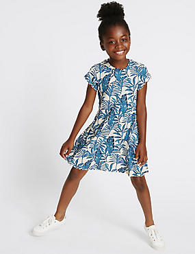 Printed Jersey Dress (3-14 Years)