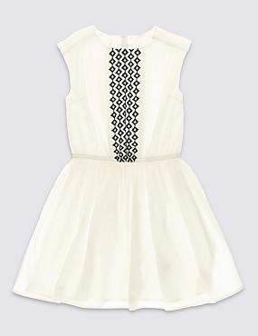 Pure Cotton Embroidered Dress (5-14 Years)