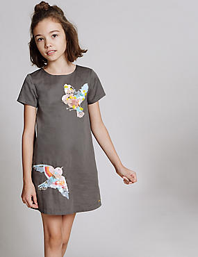 Pure Cotton Applique Dress (3-14 Years)