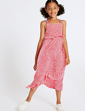 Zig-Zag Dress (3-16 Years), PINK MIX, catlanding