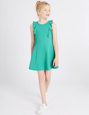 Frill Textured Dress (3-14 Years)