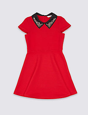 Embellished Collar Dress (3-14 Years)