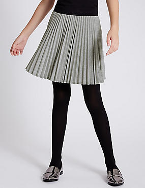 Pleated Lurex Skirt (5-14 Years)