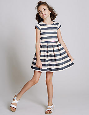 Striped Prom Dress (3-14 Years)