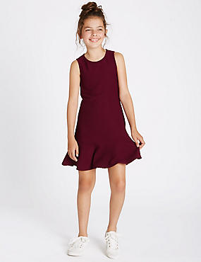 Fluted Hem Dress (3-14 Years)
