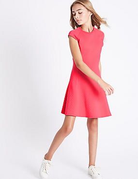 Cotton Rich Fit & Flare Dress (3-14 Years)