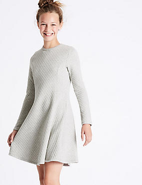Cotton Rich Quilted Dress (3-14 Years)