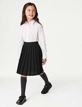Girls' Easy Dressing Skirt, BLACK, catlanding