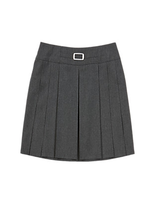 Girls' Buckle Detail Pleated Skirt with Triple Action Stormwear™ Clothing