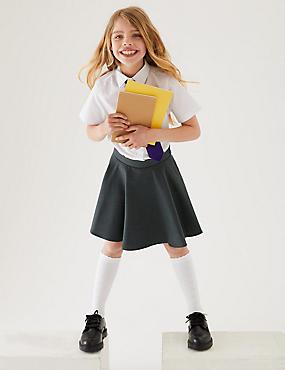 Girls' Skater Skirt, GREY, catlanding