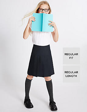 Girls' 2 Pack Permanent Pleat Skirt with Triple Action Stormwear™