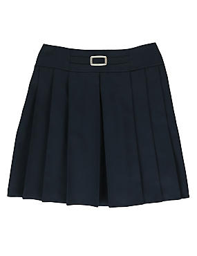 Girls' Crease Resistant Adjustable Waist Buckle Pleated Skirt with Triple Action Stormwear™