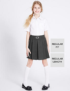 Girls' Pleated Skirt with Crease Resistant