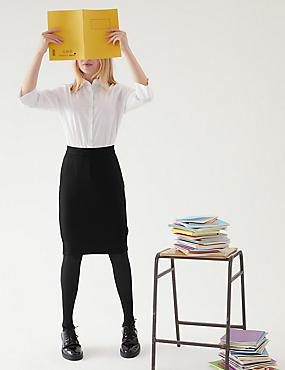 Senior Girls' Long Tube Skirt, BLACK, catlanding