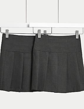 2 Pack Girls' Skirts, GREY, catlanding
