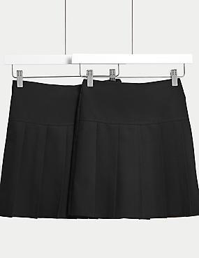 2 Pack Girls' Skirts, BLACK, catlanding