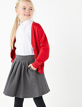 Girls' Cotton Rich Knitted Skirt
