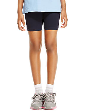 Girls' Cotton Rich Cycling Shorts with StayNEW™ & Active Sport™