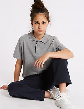 Girls' Cotton Rich Joggers, NAVY, catlanding