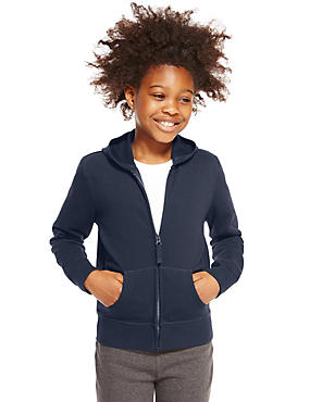 Girls' Cotton Rich Hooded Sweatshirt